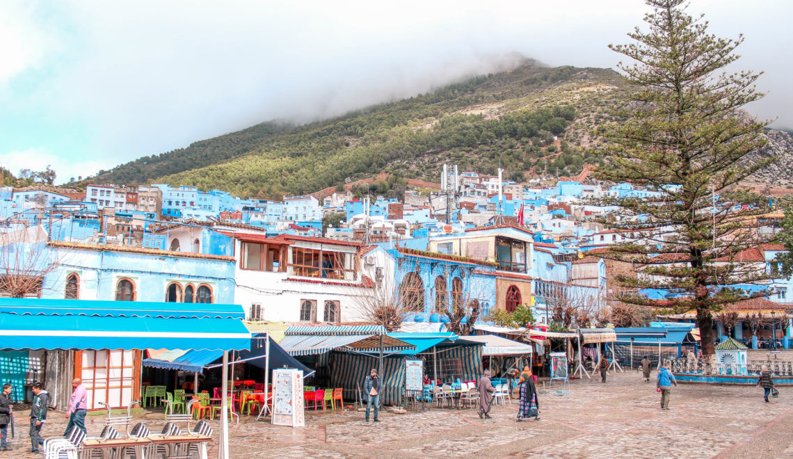morocco's blue town